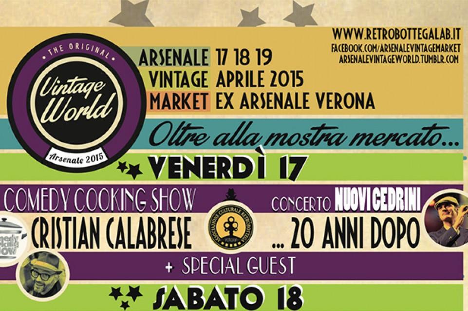 """Il 17 aprile all'""""Arsenale Vintage World"""" di Verona vi aspetta il Comedy Cooking Show"""