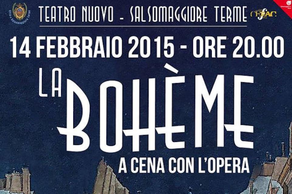 La Bohème - Dinner Theatre: teatro e gastronomia vi aspettano a Salsomaggiore il 14 febbraio