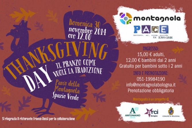 """Il 30 novembre a Bologna cucina in stile USA al """"Thanksgiving day"""""""