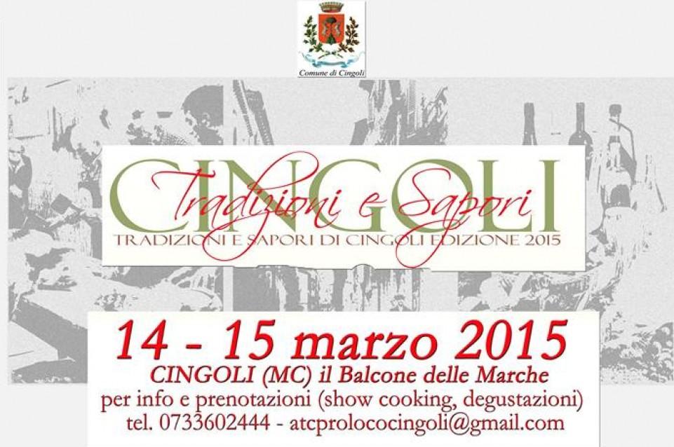 """Il 14 e 15 marzo a Cingoli si festeggia la gastronomia con """"Cingoli Tradizioni e Sapori"""""""