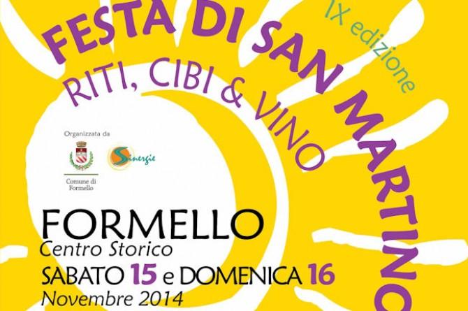 Festa di San Martino, riti, cibo e vino: a Formello il 15 e 16 dicembre