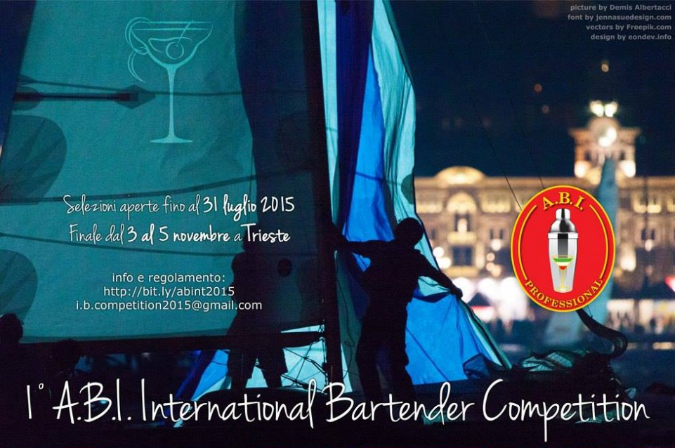 International Bartender Competition: la finale dal 3 al 5 novembre a Trieste