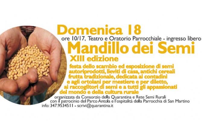 Mandillo dei Semi: il 18 gennaio a Ronco Scrivia torna la festa dedicata a semi, lieviti e cerali