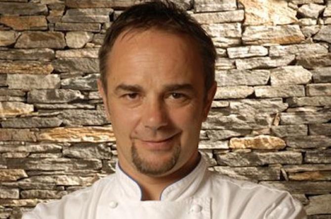 Lo Chef Marco Sacco alla manifestazione gastronomica della regione insubrica
