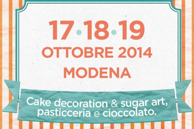 "Dal 17 al 19 ottobre a Modena Cake Decoration e Sugar art con ""Re di Torte"""