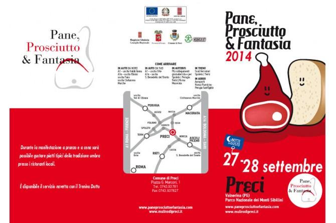 Pane Prosciutto & Fantasia: a Preci il 27 ed il 28 settembre
