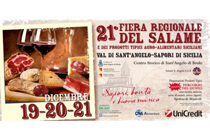 Dal 19 al 21 dicembre a Sant'Angelo di Brolo torna la festa del Salame