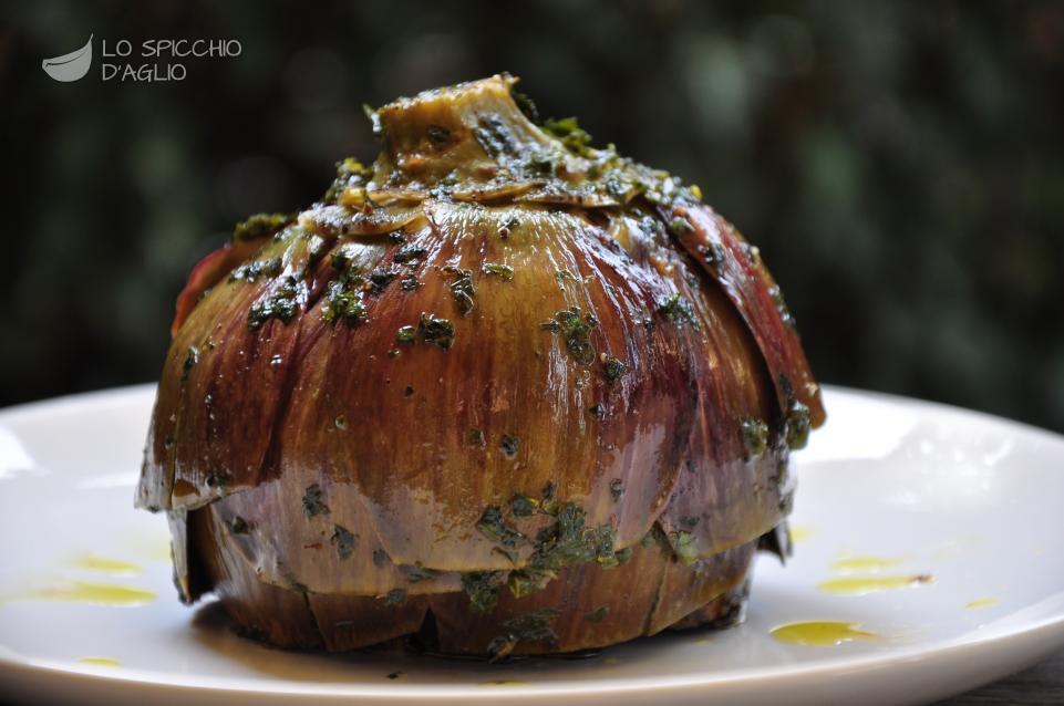 ricetta - carciofi alla romana - le ricette dello spicchio d'aglio