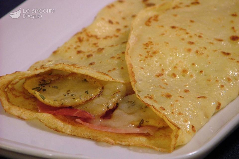 Ricette crepes salate con speck