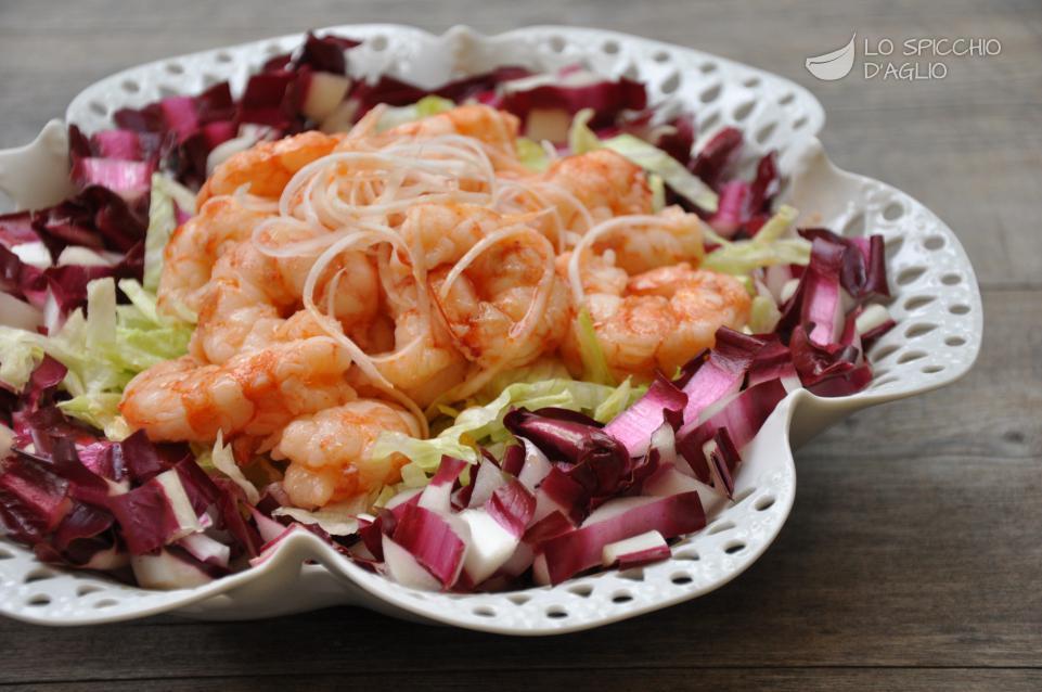 Ricetta insalata di gamberi e radicchio rosso tardivo for Ricette gambero rosso