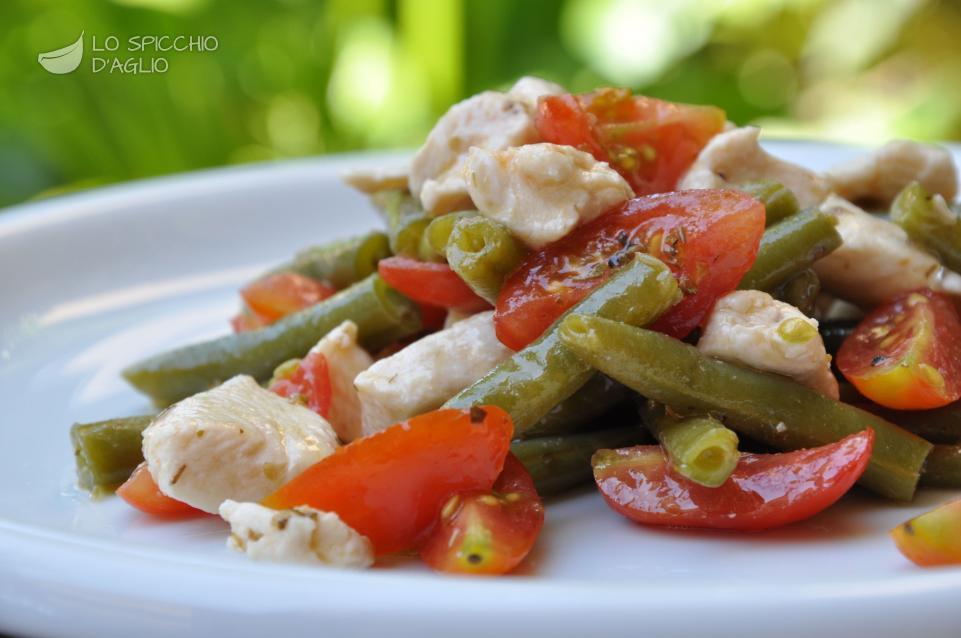 dimagrire con petto di pollo e insalata