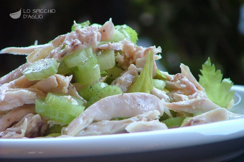 spesso Ricetta - Insalata di pollo e sedano - Le ricette dello spicchio d  JR51
