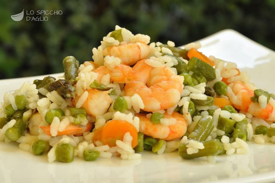Ricetta insalata di riso ai gamberetti le ricette for Ricette di cucina italiana primi piatti