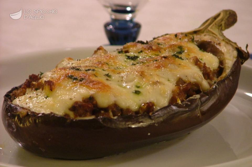 Ricetta melanzane ripiene le ricette dello spicchio d for Melanzane ricette