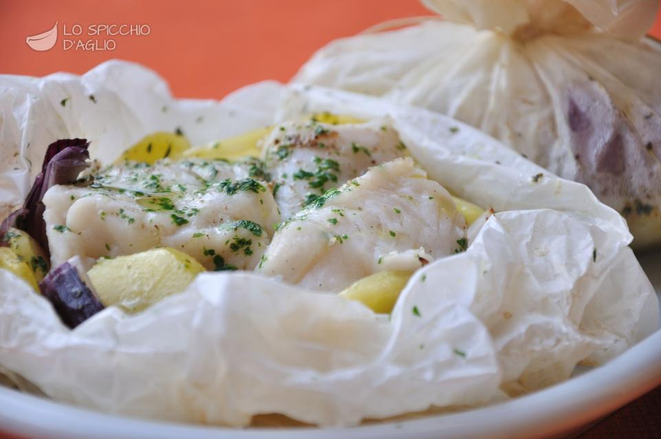 Merluzzo e patate al cartoccio