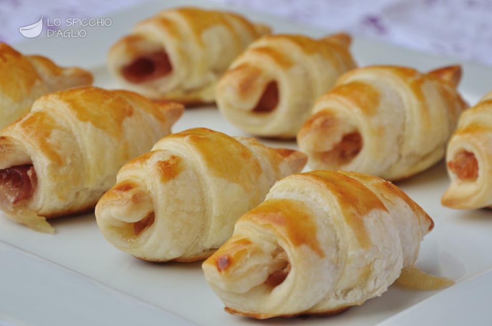 Favorito Ricetta - Mini croissant speck e fontina - Le ricette dello  IF03