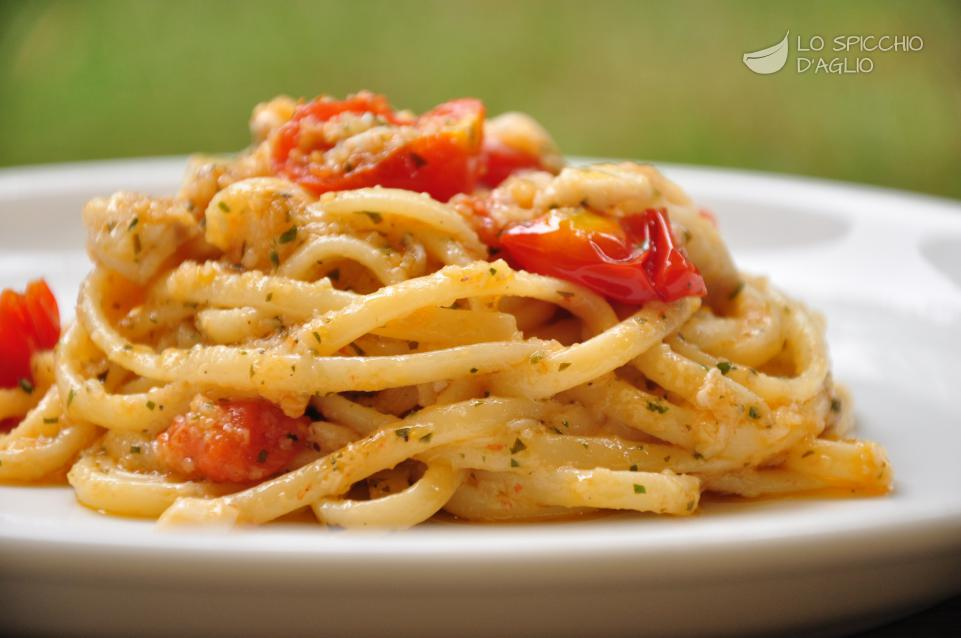 Ricetta pasta pomodorini e scorfano le ricette dello for Ricette spaghetti