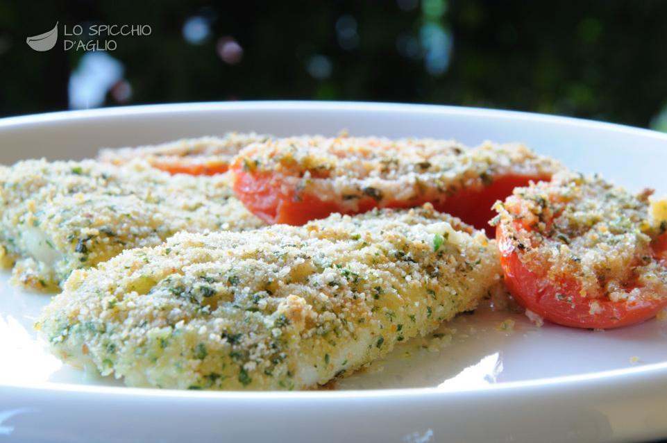 Platessa con pomodori gratinati