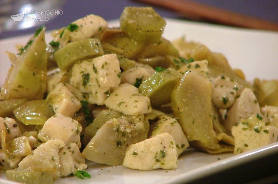 Ricetta pollo ai carciofi le ricette dello spicchio d for Carciofi ricette