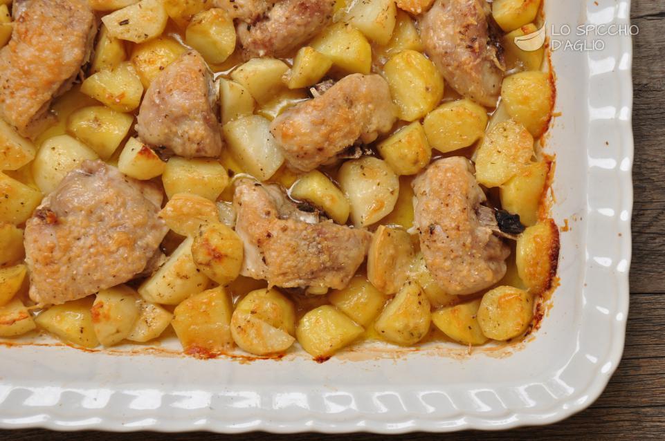 Ricetta Pollo Al Forno Con Patate Le Ricette Dello Spicchio D Aglio