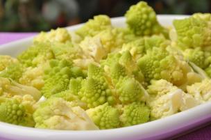 Broccoli romaneschi a vapore