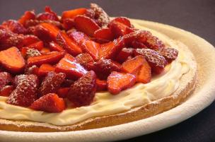 Crostata fragole e mascarpone