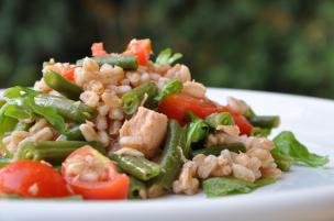 Insalata farro, tonno e verdure