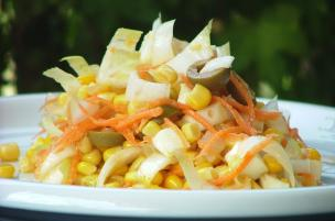 Insalata mais e mozzarella
