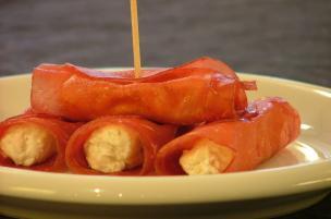 Involtini di bresaola gorgonzola e noci