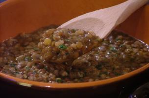 Minestra di farro e lenticchie