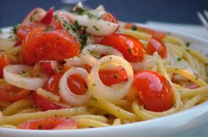 Pasta pomodorini e ravanelli