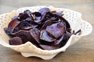 Patatine fritte viola