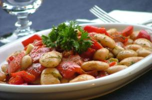 Insalata di peperoni e fagioli