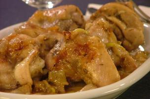 Pollo in pezzi all'agrodolce