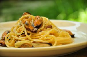 Spaghetti cozze e mare