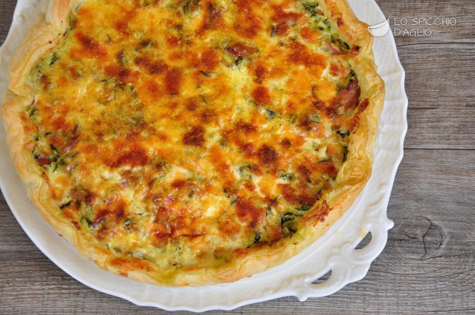 Ricetta torta salata con spinaci e speck