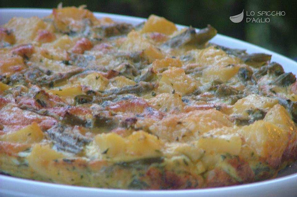Ricetta - Tortino patate e fagiolini - Le ricette dello spicchio d\'aglio