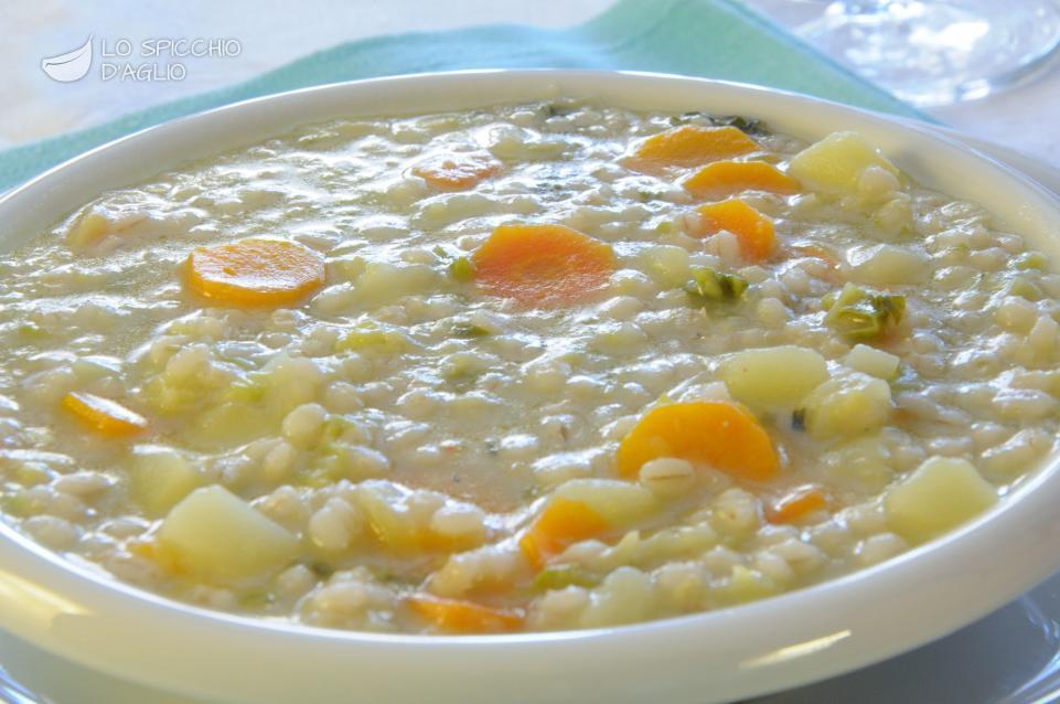 Orzo perlato zuppa