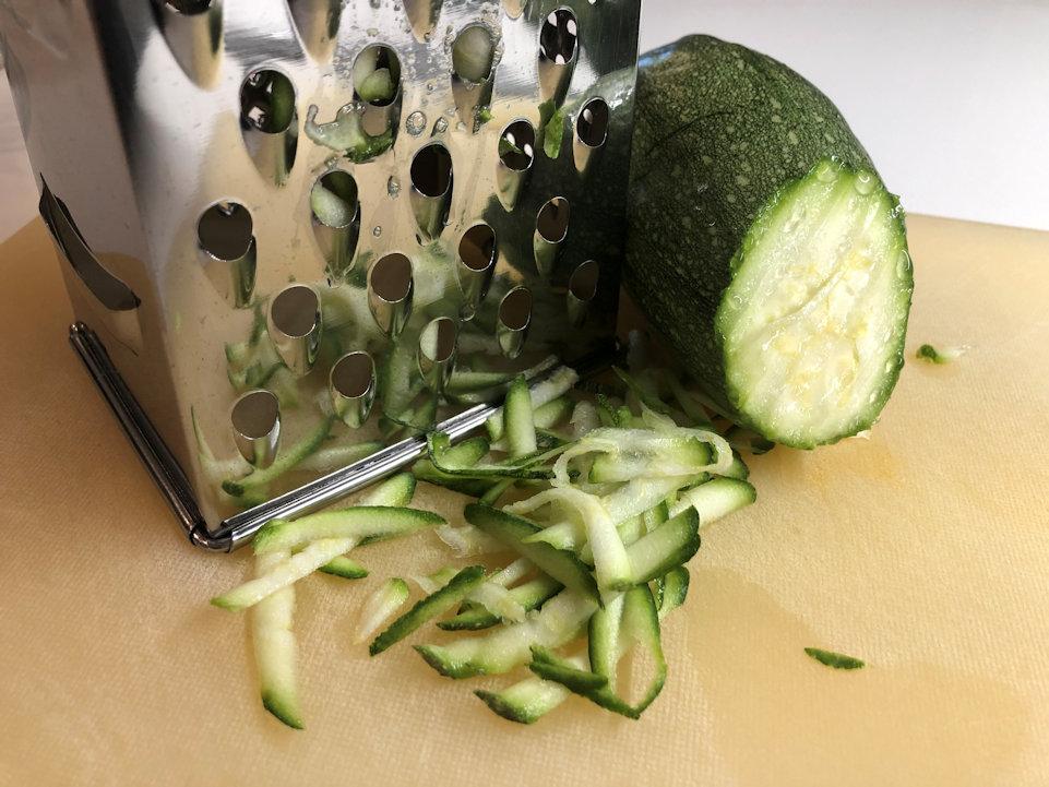 Dimensione ideale delle zucchine grattugiate